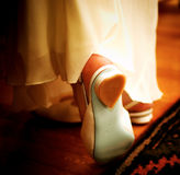 Romantic shoes. Bride's shoes Royalty Free Stock Images