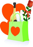 Romantic shopping Stock Photo
