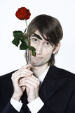 Romantic shy lover Royalty Free Stock Photo