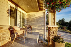 Romantic sitting area on entrance porch. Royalty Free Stock Photography