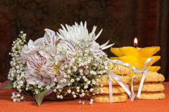 Romantic snacks Royalty Free Stock Image