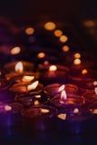Romantic Spa Candles Burning Stock Photos