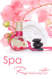 Romantic spa concept in pink Royalty Free Stock Images