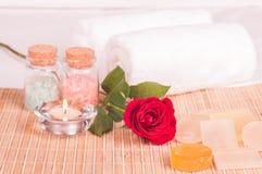 Romantic spa ontsnapping royalty-vrije stock afbeelding