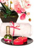 Romantic spa set Royalty Free Stock Photos