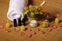 Romantic spa setting Royalty Free Stock Images