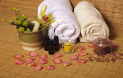 Romantic spa setting Royalty Free Stock Photo