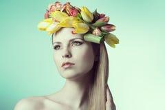 Romantic spring lady Stock Image