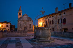 Romantic square in Svetvincenat Stock Photography