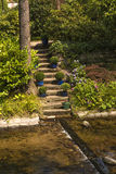 Romantic stairs at the oos river spa park of Baden-Baden Stock Photos