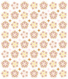 Romantic Stars and Flowers. A soft, romantic pattern of stars, diamonds and flowery shapes - a beautiful background for Valentine, anniversary or wedding designs Stock Photos