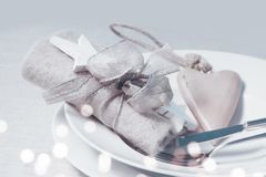 Romantic still life for a christmas dinner Stock Photography