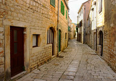 Romantic Stone Street. Old Historical Romantic Stone Street royalty free stock photos