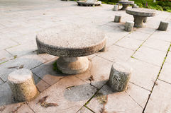 Stone  table Stock Photo