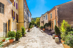 Romantic Street In The City Of Collobrieres-France Royalty Free Stock Photo