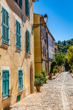 Romantic Street In The City Of Collobrieres-France Royalty Free Stock Images
