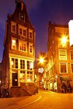 Romantic street view in Amsterdam Netherlands Royalty Free Stock Photography
