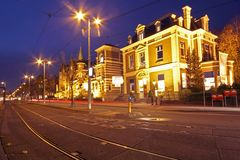 Romantic street view in Amsterdam Netherlands Stock Photos