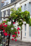 Romantic streets in French country towns Stock Photo