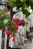 Romantic streets in French country towns Stock Photography