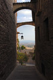 Romantic streets od Assisi Stock Images