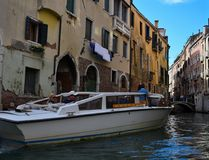 Romantic streets of  old Venice.Italy Royalty Free Stock Photography