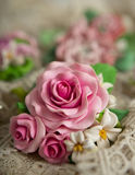 Romantic style: Fashion studio shot of a floral rose necklace (j Royalty Free Stock Photography