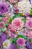 Romantic Style Set: a lot of Floral varicolored Jewelery Royalty Free Stock Photography