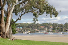 Romantic suburban bay Stock Photos