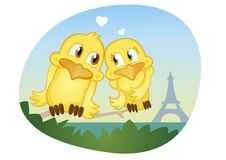 romantic summer love in Paris near Eifel tower Royalty Free Stock Photos