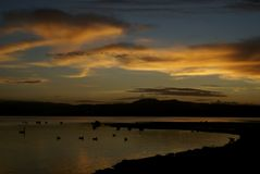 Romantic sunrise in new zealand Royalty Free Stock Photography