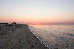 Romantic sunrise over the sea Stock Images
