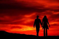 Romantic sunset royalty free stock photo