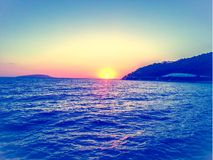 Romantic sunset in croatia royalty free stock image