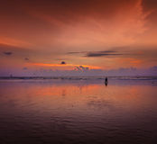 Romantic sunset,  Goa, India Stock Photo