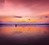 Romantic sunset,  Goa, India Royalty Free Stock Photo