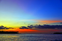 Romantic sunset in Key West Stock Photography