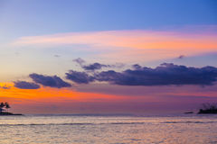 Romantic sunset in Key West Royalty Free Stock Photos