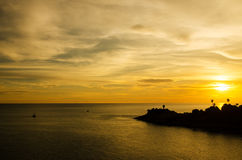Romantic sunset at Laem Phromthep view point, Phuket Thailand Royalty Free Stock Image