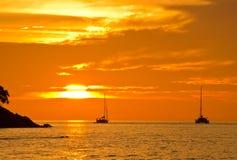 Romantic sunset at Lipe Island Stock Photos
