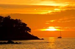 Romantic sunset at Lipe Island Stock Photography