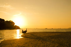 Romantic sunset at Lipe Island Stock Images