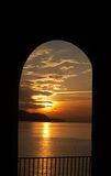 Romantic sunset - from luxury villa in Spain Royalty Free Stock Images
