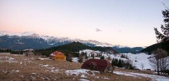 Romantic sunset in mountain Stock Image