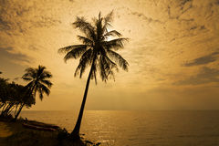 Romantic sunset over the beach. Koh Chang. Thailand Royalty Free Stock Photography