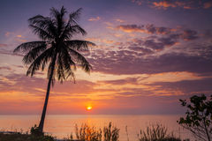Romantic sunset over the beach. Koh Chang. Stock Images