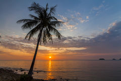 Romantic sunset over the beach. Koh Chang. Stock Image