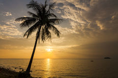 Romantic sunset over the beach. Koh Chang. Royalty Free Stock Photo