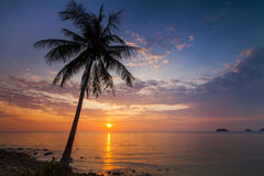 Romantic sunset over the beach. Koh Chang. Royalty Free Stock Photos