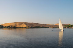 Romantic sunset sail on Nile river in Egypt Stock Image